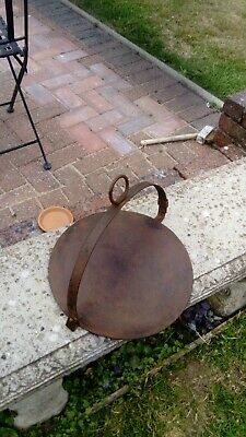 "Vintage. Gypsy Swinging, Griddle Plate/ Skillet. 14""/36cm dia in Cast Iron,stunn"