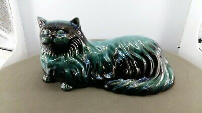 "Blue Mountain Pottery 15"" Laying Persian Cat"