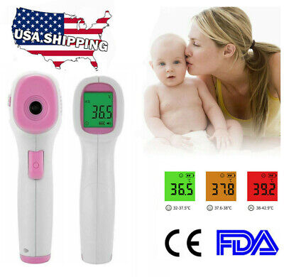 Non-Contact Digital IR Infrared Forehead Thermometer Gun Adult/Baby Temperature