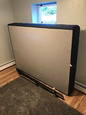 """9"""" Queen Size Navy Box Spring with Metal Frame"""