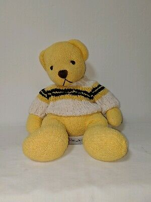 """TEDDY BEAR by Color Rich Limited Yellow  PLUSH 11"""" Bear with Sweater"""