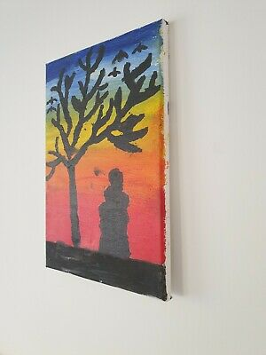 Beautiful Hand Painted canvas wall art 30/20cm