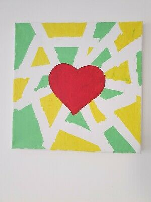 Beautiful Hand Painted canvas wall art 30/30cm
