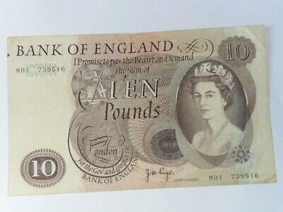 Bank of England £10 banknote , J B Page