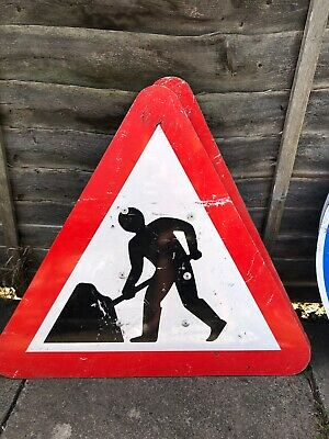 Road Traffic Saftey Signs For Cones Narrow Road/man At Work/ Blue Arrows