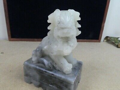 Super Looking Small Soap Stone Carved Foo Dog