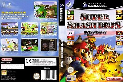 Gamecube Super Smash Bros Melee + INSTRUCTIONS ONLY (NO GAME) or EMPTY GAME BOX