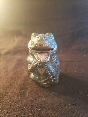 Antique Cast Iron Still Penny Bank Alligator with moving mouth
