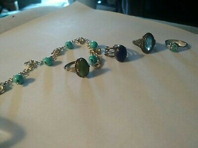 Lot of sterling silver and gemstone lot