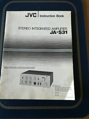 JVC JA-S31 Instruction Book.Stereo integrated Amplifer.