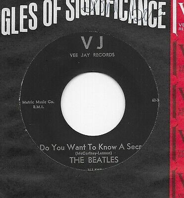 """The Beatles """"Do You Want To Know A Secret"""" U.S. Vee Jay 587 7"""" 45"""