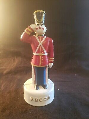 Antique Cast Iron Still Penny Bank Soldier