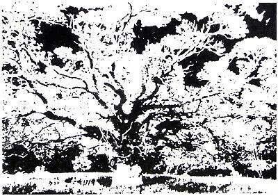 Black And White Very Big Abstract Tree Modern Canvas Wall Art Landscape Painting