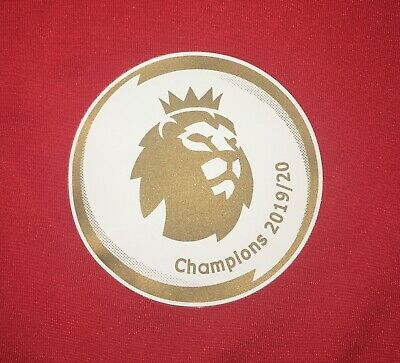 Premier League Champions Liverpool 19/20 Adult Size Shirt Sleeve Patches Badge.