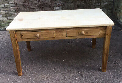 Stunning Victorian Pine 4 Drawer Kitchen Dining Side Work Table