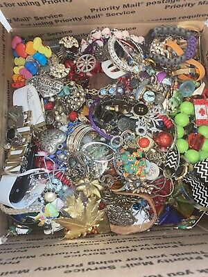 18 Pounds Jewelry Junk Grab Bag - Scrap ~ Wearable ~ Wow! 3 Day Auction ONLY
