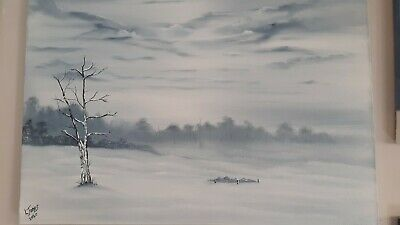 An Original Oil Painting on Stretched Canvas by LeeJones ,the size is A2