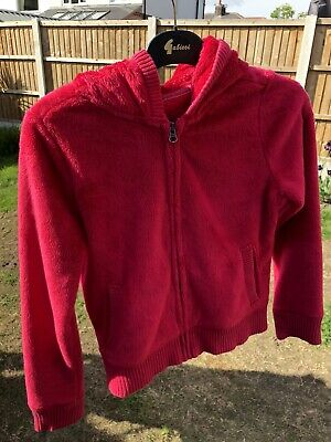 GAP, Pink Fluffy Zipped Hoodie, Age 12-13, Perfect Condition