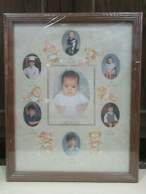 """Baby Collage Frame - 15"""" x 12"""" - Wooden"""