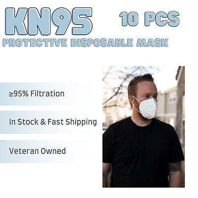 [10 PACK] Disposable Protective Face Mask 5-LAYERS  - USA Seller - Fast Shipping