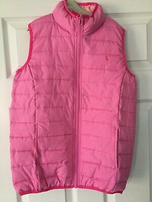 Joules Girls Pink Gilet Age 9-10 . Excellent Condition