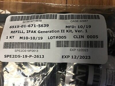 Complete Refill for Newest OCP IFAK(2 Tourniquets Included)Expiration12-23