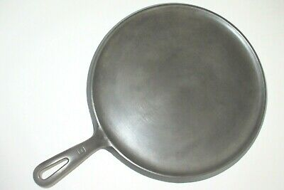 "VINTAGE 1940s GRISWOLD LARGE #9 CAST IRON ROUND ""HANDLE GRIDDLE"" PN 609(Ex.Cond)"