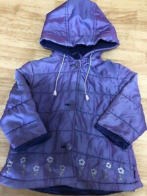 Girls purple floral coat , Pumpkin patch, size 2