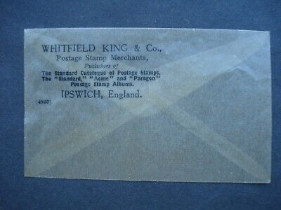 Vintage Wax Paper Envelope for Stamps, Whitfield King & Co