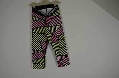 Nike Pro Cropped leggings Girls age 12-13 or XS ladies Slashed Dance Gym Yoga