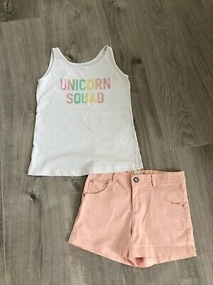 Girls ITTY designer shorts & PRIMARK top 11-12y (small)