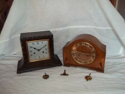 two striking  mantle clocks