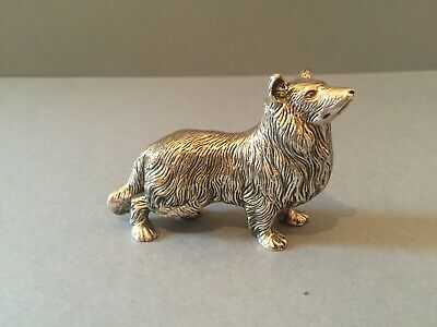 Lovely Sterling  Silver 925 Dog  Animal Statue Figurine.