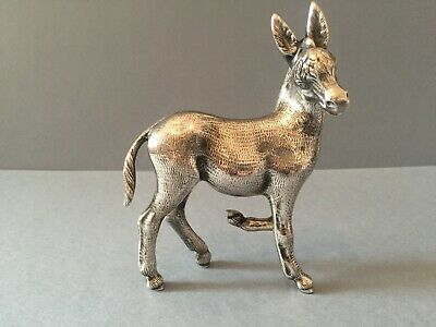 Lovely Sterling  Silver 925  Donkey  Animal Statue Figurine.