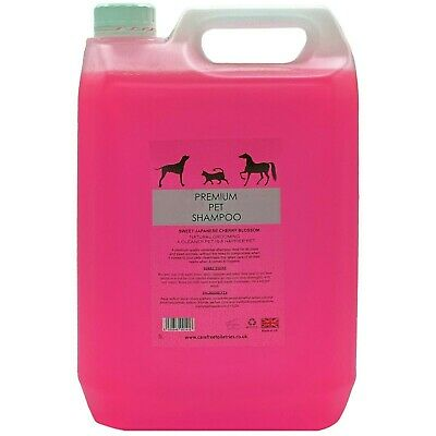 Pet/grooming shampoo 5L Japanese cherry blossom with pump 32 to 1 dilution rate.