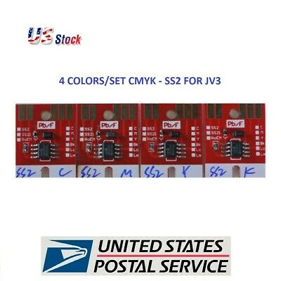 US Stock- Chip Permanent for Mimaki JV3 SS2 Cartridge 4 Colors CMYK
