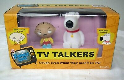 Family Guy TV Talkers Funny Phrases Remote Controlled Stewie and Brian on Couch