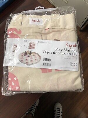 3 Sprouts Play Mat Bag Elephants NEW