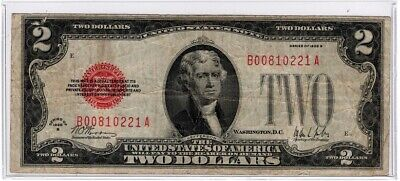 Fr. 1503 1928-B $2 Red Seal Legal Tender United States Note Key Note