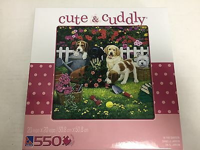 CUTE AND CUDDLY - In the Garden-550 Piece Jigsaw Puzzle ~New~