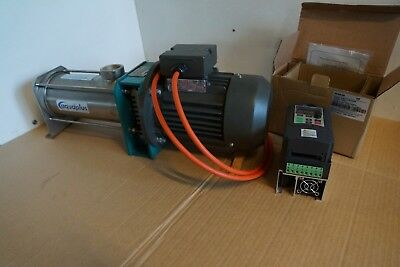 MONO PROGRESSIVE CAVITY PUMP SYDEX /AQUAPLUS-FOOD GRADE 316 S/S 0.55kW &240v VFD