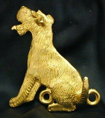 WIRE FOX TERRIER, WFT Hook in Bronze