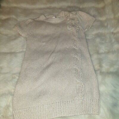 Girls 3-4-5 Years designer knit Tunic Dress top bow smart cute clothes next day