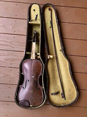 Antique Hopf Violin Or Fiddle With Case