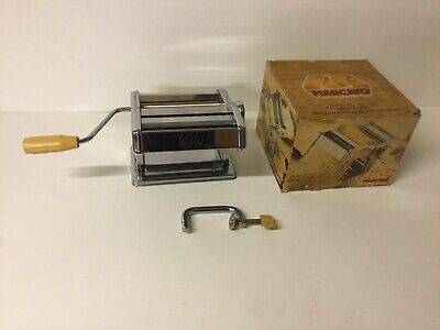 Vintage Marcato Atlas Pasta Machine Model 150 Made In Italy Boxed