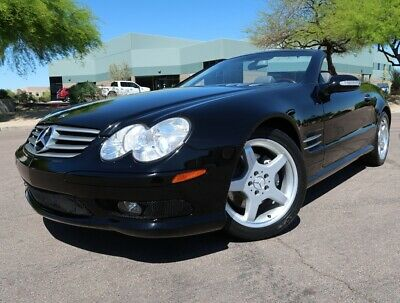 2003 Mercedes-Benz SL-Class SL500 Convertible AMG Sport Convertible Heated Seats 18inch AMG Wheels Sport Package Black 2004 2005 2006