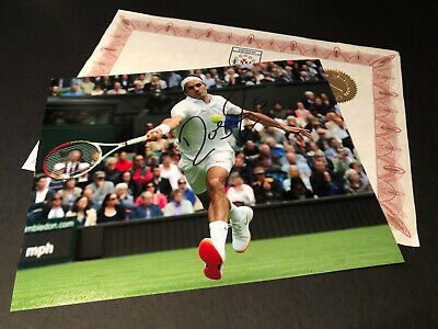 Roger Federer Hand Signed 10 x 8 Photo Genuine Autograph & COA