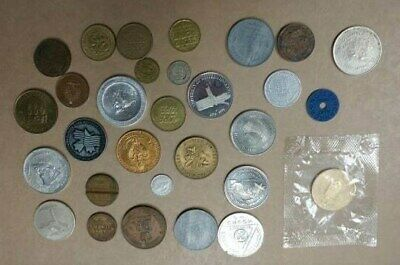 30 Assorted Tokens, Highway, Coat of Arms, Friendship Festival, Transit, Etc.
