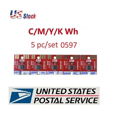 Mimaki ink Chip permanent for LH100-0597 UV Cartridge 5 colors CMYKWh