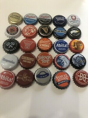 Lot Of 25 Undented Craft Beer and Cider Bottle Caps Lot B